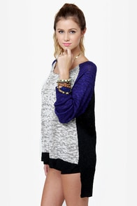 Home Run-way Color Block Sweater at Lulus.com!
