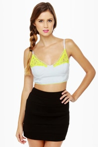 Hang Ten Neon-Trimmed Bustier Top at Lulus.com!