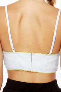 Hang Ten Neon-Trimmed Bustier Top