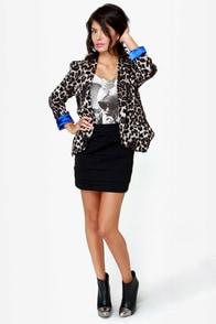 Tail-blazer Leopard Print Blazer at Lulus.com!