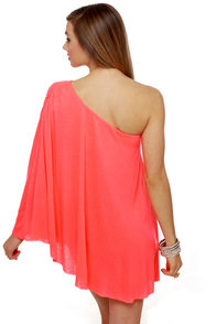 Leaves of Sass Neon Coral Dress at Lulus.com!