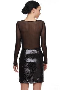 Diaphanous Daughter Black Sequin Dress