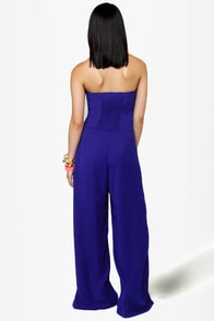 High Tide Blue Jumpsuit at Lulus.com!