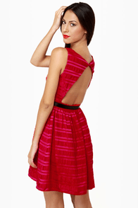 Flapper Keeper Backless Red Dress
