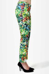 Monet, Monet, Monet Cropped Floral Print Pants at Lulus.com!