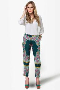 Paisley-d Role Print Cropped Pants