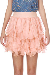 Do the Rustle Pink Mini Skirt