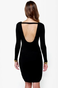 Bits of Glitz Studded Black Dress at Lulus.com!