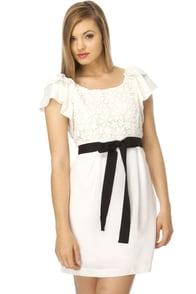 Retail Therapy White Dress