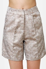 Fancy Pants Gold Brocade Shorts