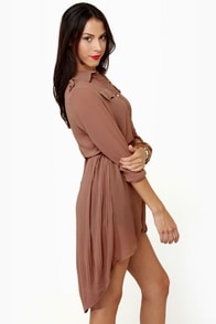 Double Date Sheer Brown Tunic Top at Lulus.com!