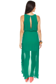 Grand Entrance High-Low Green Dress at Lulus.com!