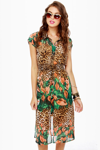 Run Through the Jungle Animal Print Dress