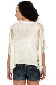 Heart-y Har Har Ivory Sweater Top