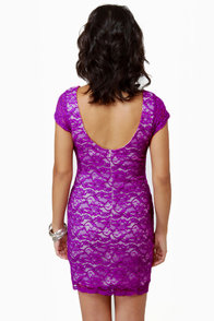 Closing Credits Purple Lace Dress at Lulus.com!