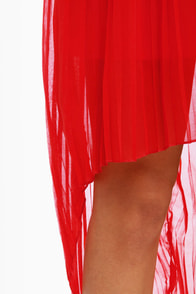 Cocktail Hour Strapless Brown and Red Dress at Lulus.com!