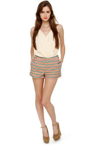 Tulle Boardwalk Games Print Shorts