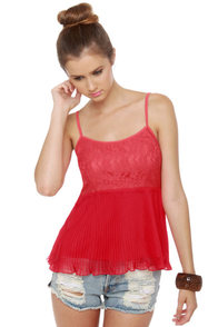 Tulle Apple Dumpling Red Tank Top
