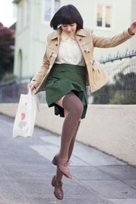 Tulle Fire Lookout Khaki Wool Coat