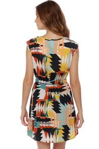 Geo-Patra Print Dress at Lulus.com!