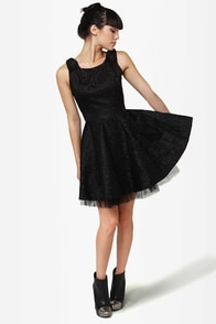Fine and Dandy Black Lace Dress