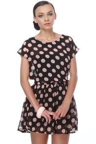 Hot Dot Com Black Polka Dot Dress