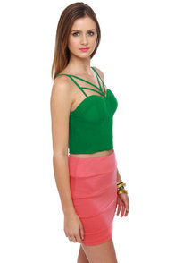 All Systems Go Green Bustier Top at Lulus.com!