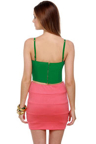 All Systems Go Green Bustier Top