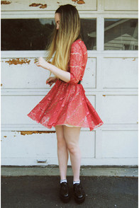 Cherry Harvest Red Lace Dress at Lulus.com!