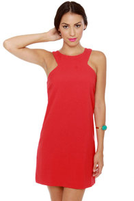 Sixties Fix White and Red Shift Dress at Lulus.com!