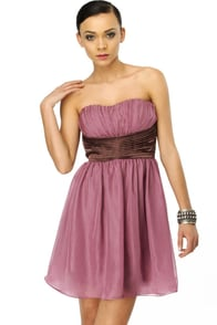 Raspberry Tart Strapless Purple Dress