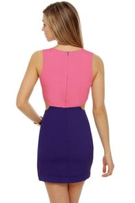 Ultra-Lounge Cutout Color Block Dress at Lulus.com!