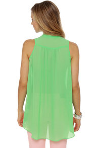 Sleeveless in Seattle Sheer Mint Green Top at Lulus.com!