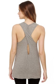 Pocket Aces Grey Tank Top at Lulus.com!