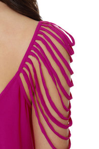 Party Looper Magenta Top