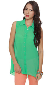 Just Desserts Mint Green Tunic Top at Lulus.com!