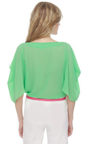 Name Dropper Short Sleeve Mint Green Top at Lulus.com!