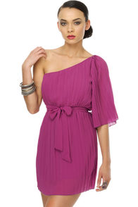 Marionberry One Shoulder Purple Dress