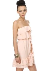 Frozen Yogurt Strapless Blush Pink Dress