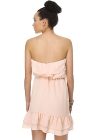 Frozen Yogurt Strapless Blush Pink Dress