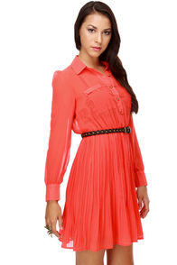 Coral Bells Pleated Dress