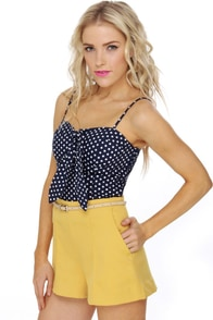 Seafaring Well Navy Blue Bustier Top at Lulus.com!