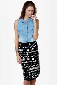 Get a Glyph Black Pencil Skirt