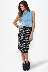 Get a Glyph Black Pencil Skirt at Lulus.com!