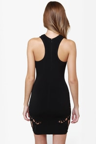 One Rad Girl Luciana Cutout Black Dress