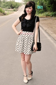 Keep on Jiving Polka Dot Skirt at Lulus.com!