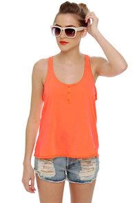 O'Neill Perry Neon Orange Tank Top