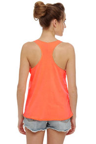 O'Neill Perry Neon Orange Tank Top at Lulus.com!