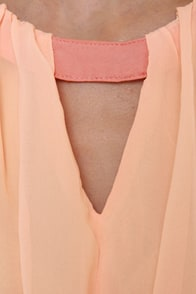 Sneaky Peaches Blush and Peach Dress at Lulus.com!