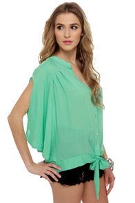 Summer Lodge Mint Short Sleeve Top at Lulus.com!